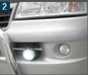 LED Daglicht Universele houder ronde uitvoering t/m Fiat X244