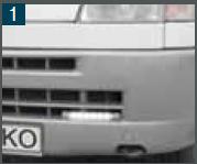 LED Daglicht Universele houder vlakke uitvoering t/m Fiat X244